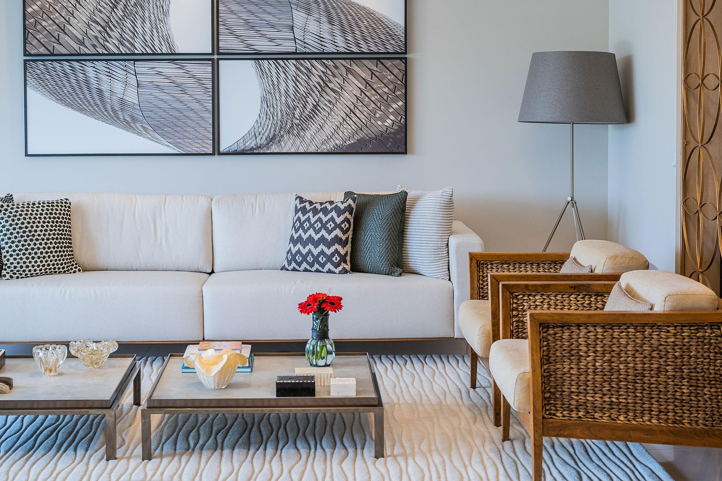 Usando o mobiliário e os objetos de decoração para compor o ambiente